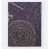 image of Planetary Motion Hardcover Lined/Grid Journal back