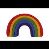 Image of Rainbow Socks Classic, Folded