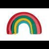 Image of Rainbow Socks Pinky, Folded