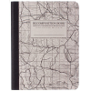 image of Topo Map Grid Sewn Journal