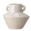 Image of White Stoneware Vase w/Handles