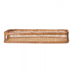 Image of Bamboo Tray w/Handles Side View