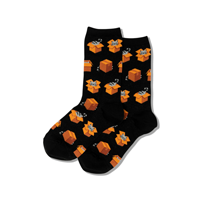 Image of Black Cats In Boxes Women's Crew Socks