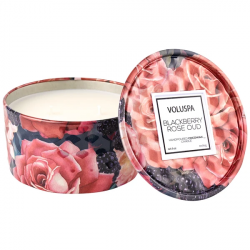 Blackberry Rose Oud Tin Candle