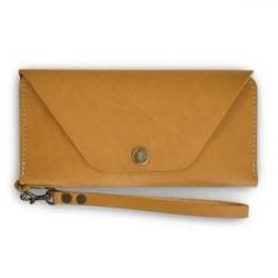 Buckskin Continental Clutch Leather
