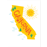 Image of California State with sun shining