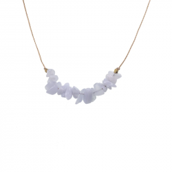 Image of Blue Lace Agate Seed Necklace