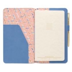 image of Cornflower Blue/Birdie Vegan Leather Folio inside