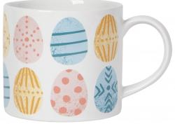 Image of White Mug with Colorful Easter Eggs