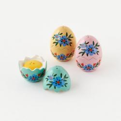 Image of Easter Egg Slat & Pepper Shakers