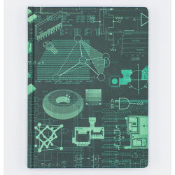 image of Electrical Engineering Hardcover Dot Grid Journal front