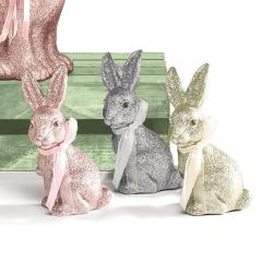 Image of Rose Gold, Silver and Green Glitter Bunnies