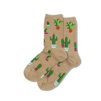 Image of Hemp Potted Cactus Women's Crew Socks