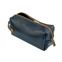 Image of High Line Leather Medium Pouch, Black