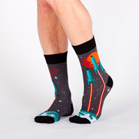 Image of Launch From Earth Men's Crew Socks