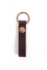 Leather Loop Keychain in Burgundy
