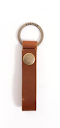 Image of Loop Keychain in Saddle Color