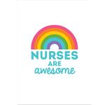 Image of Rainbow with Nurses Are Awesome written below