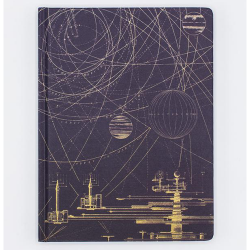 image of Planetary Motion Hardcover Lined/Grid Journal front