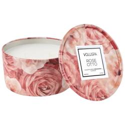 Rose Otto Tin Candle