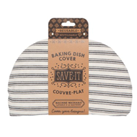Image of Ticking Stripe Baking Dish Cover in package