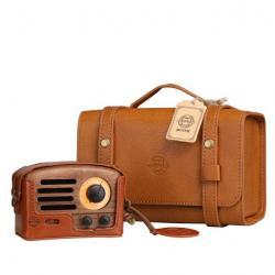 Image of Walnut OTR Wood Speaker with Leather Case
